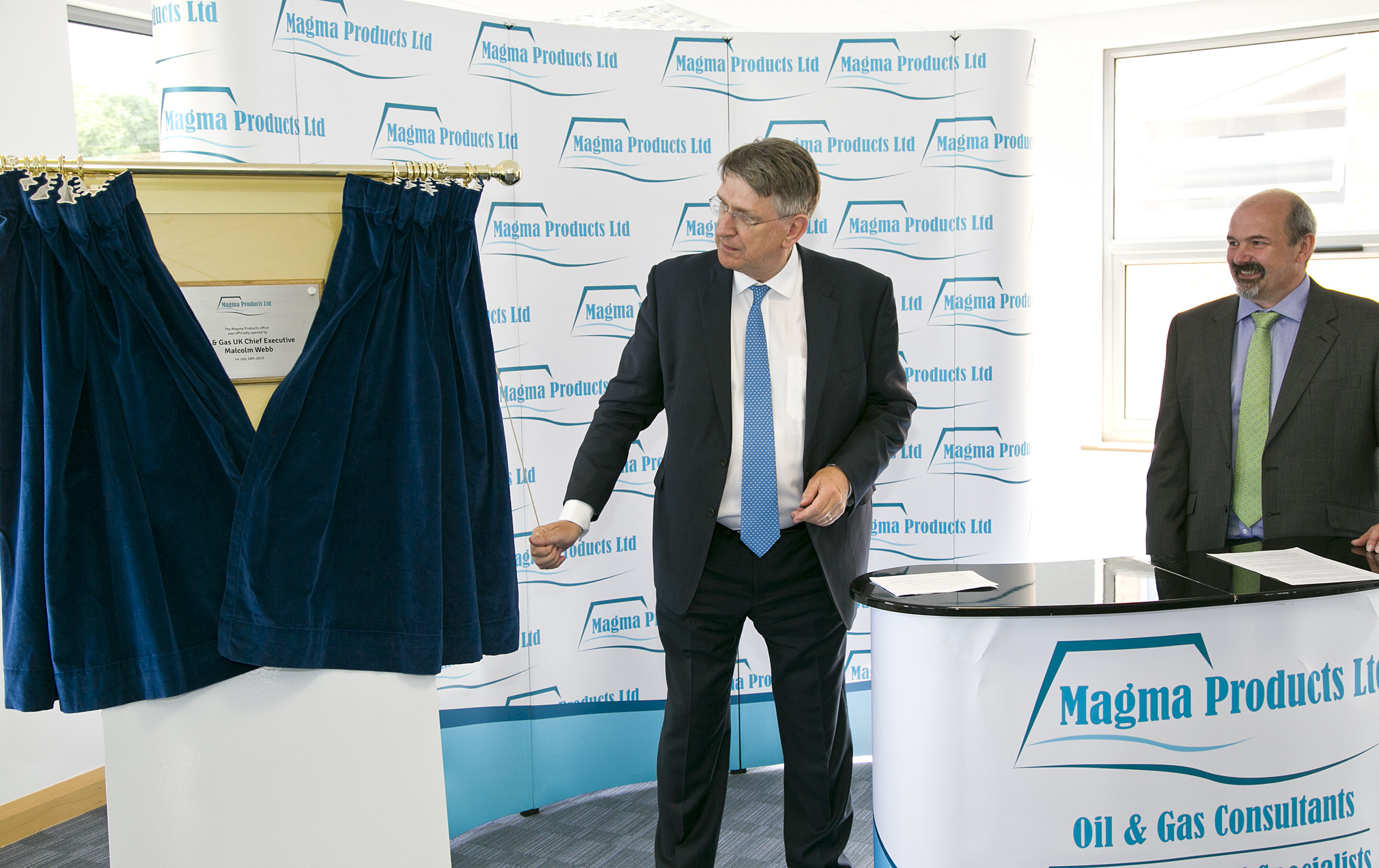 Malcolm Webb officially opens Magma Products' new offices